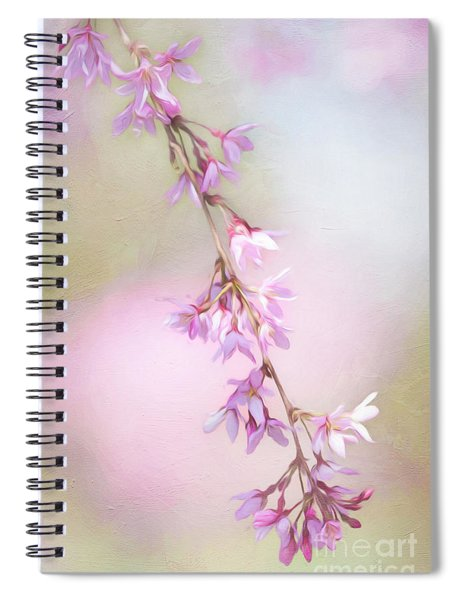Abstract Higan Chery Blossom Branch Spiral Notebook