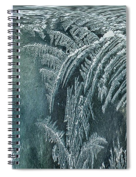 Abstract Ice Crystals Spiral Notebook