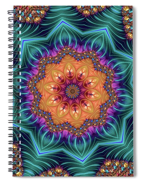 Abstract Kaleidoscope Art With Wonderful Colors Spiral Notebook