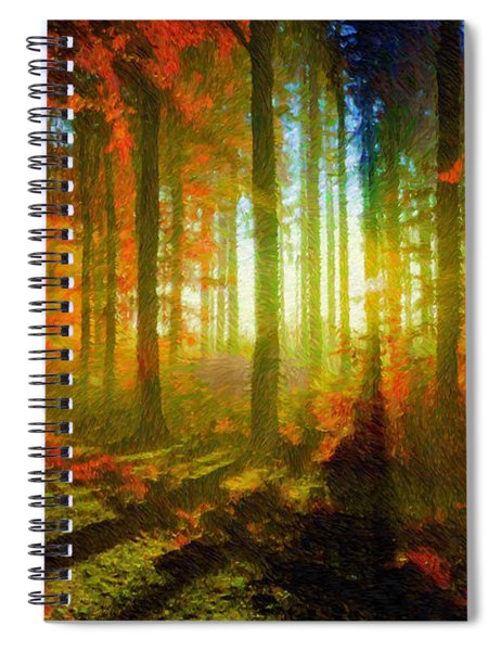 Abstract Landscape 0745 Spiral Notebook