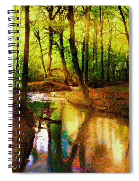 Abstract Landscape 0747 Spiral Notebook