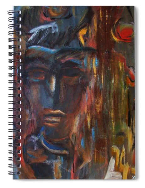Abstract Man Spiral Notebook