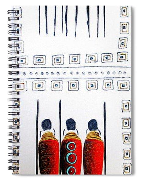 Abstract Masai Warriors Spiral Notebook