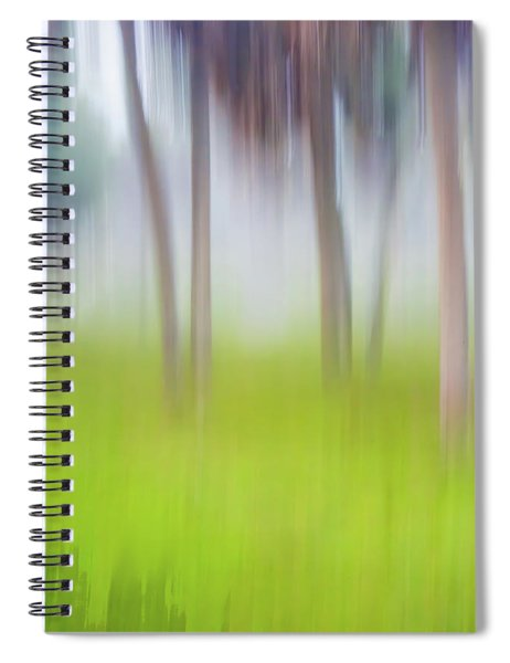 Abstract Moving Trees #1 Background Spiral Notebook