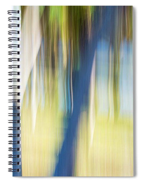 Abstract Moving Trees 30 Spiral Notebook