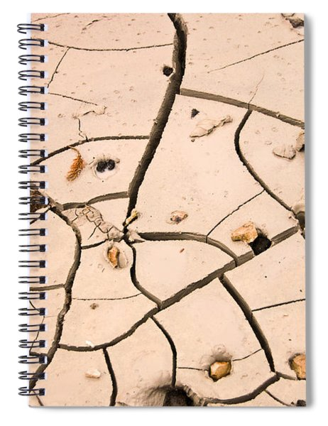 Abstract Mud Flat Pink Saturated Spiral Notebook