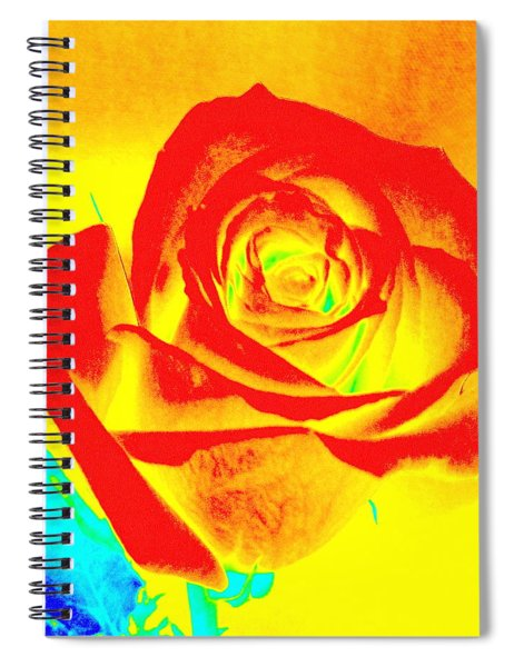 Single Orange Rose Abstract Spiral Notebook