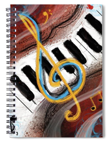 Abstract Piano Concert Spiral Notebook