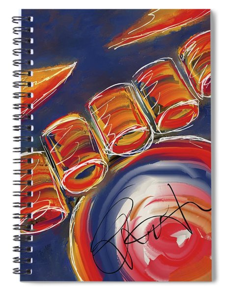 Abstract Red Drums Spiral Notebook
