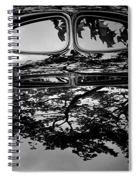 Abstract Reflection Bw Sq II - Vehicle Spiral Notebook