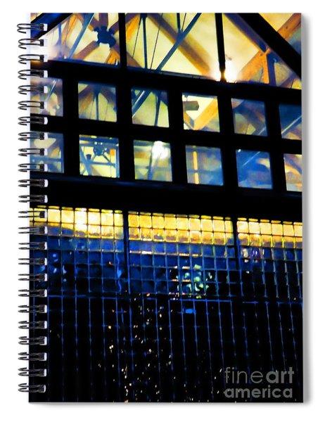 Abstract Reflections Digital Art #5 Spiral Notebook