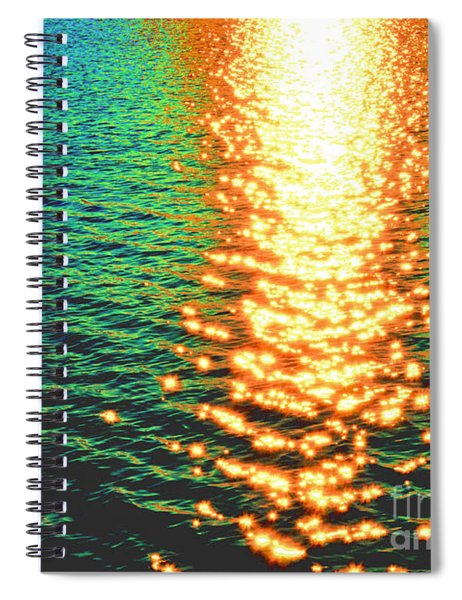 Abstract Reflections Digital Painting #5 - Delaware River Series Spiral Notebook