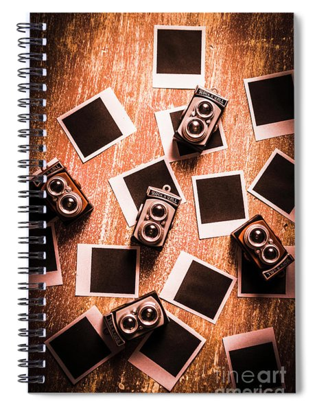 Abstract Retro Camera Background Spiral Notebook