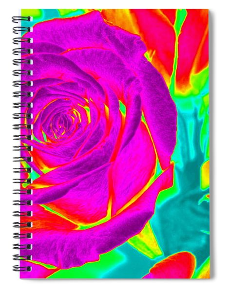 Blooming Roses Abstract Spiral Notebook