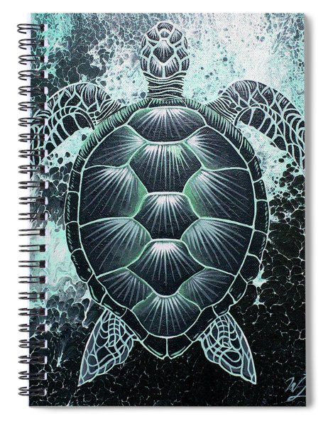 Abstract Sea Turtle Spiral Notebook