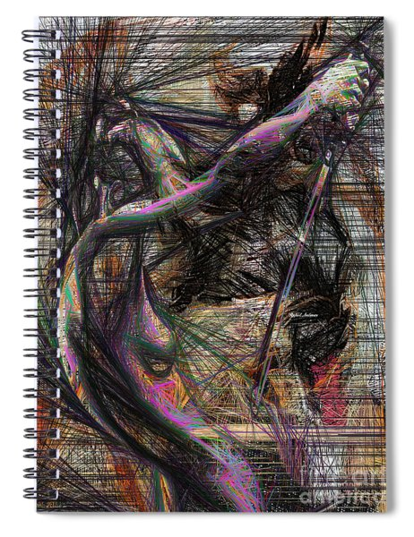 Abstract Sketch 1334 Spiral Notebook