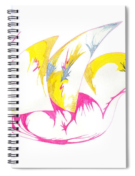 Abstract Swan Spiral Notebook