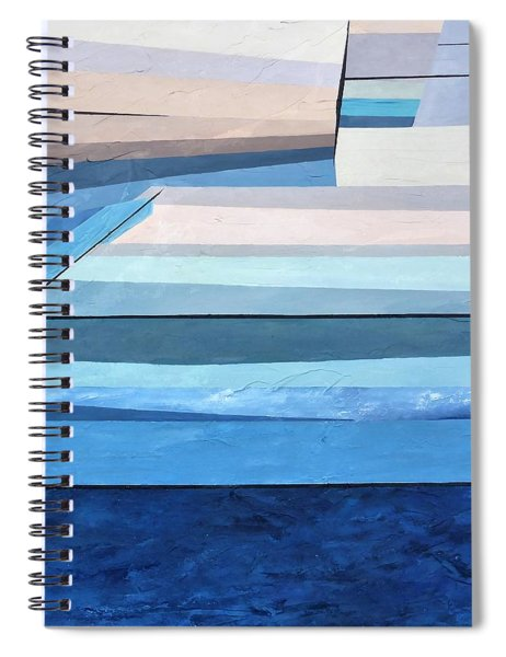 Abstract Swimming Pool Spiral Notebook