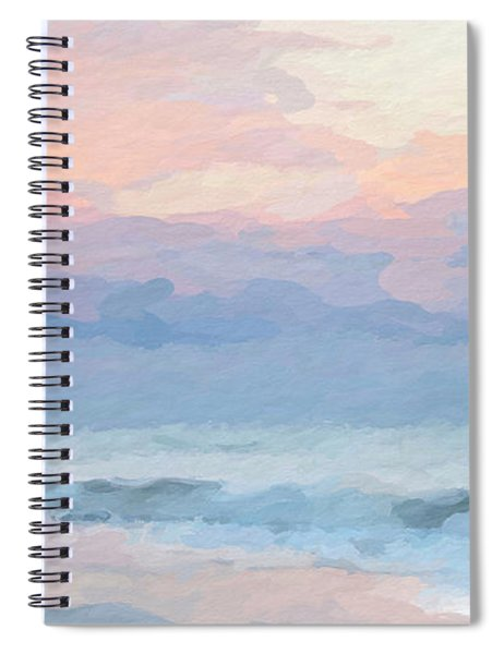 Abstract Warm Morning Spiral Notebook