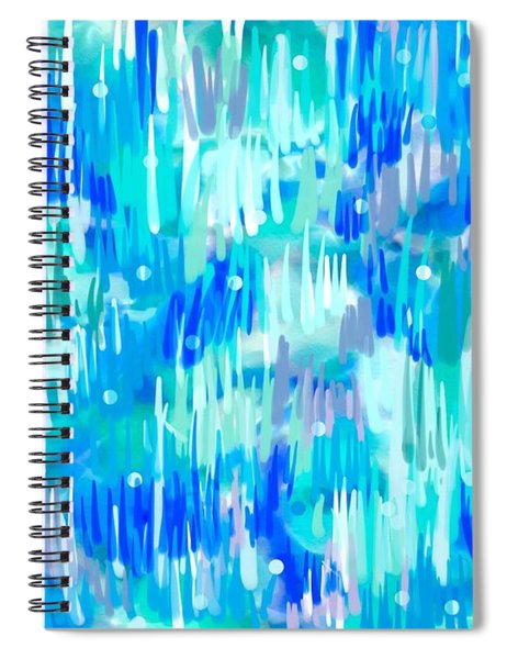 Abstract Winter Spiral Notebook