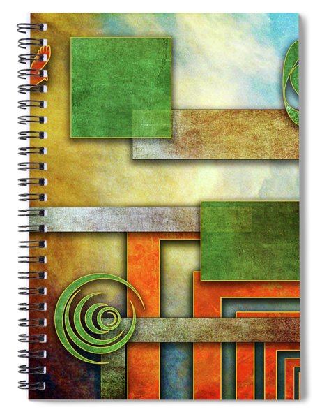 Abstraction 2 Spiral Notebook