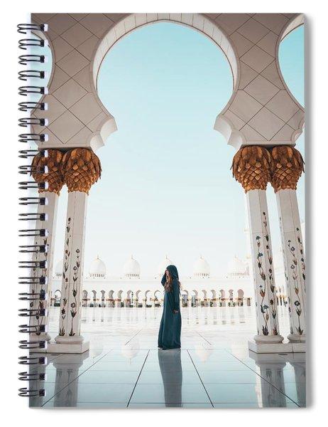 Abu Dhabi Mosque Spiral Notebook