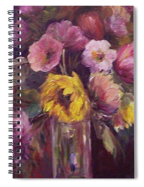 Abundance- Floral Painting Spiral Notebook