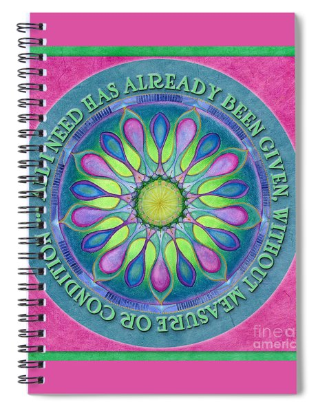 Abundance Mandala Prayer Spiral Notebook