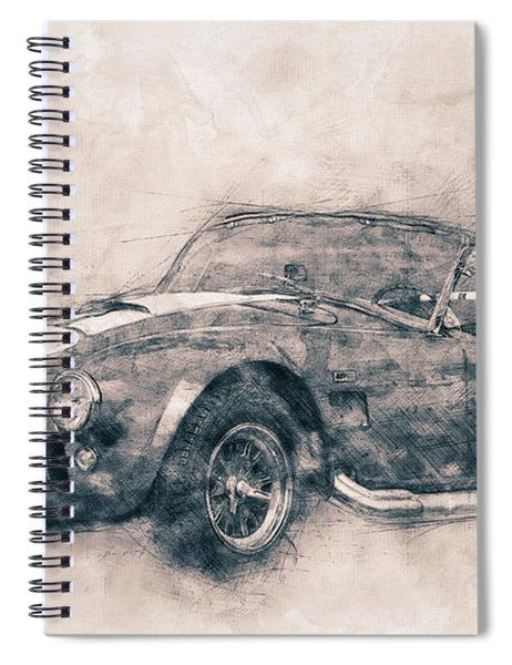 Ac Cobra - Shelby Cobra 1 - 1962s - Automotive Art - Car Posters Spiral Notebook