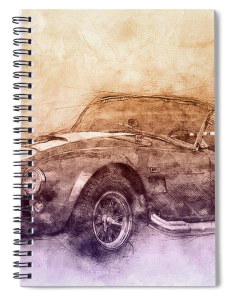 Ac Cobra - Shelby Cobra 2 - 1962s - Automotive Art - Car Posters Spiral Notebook