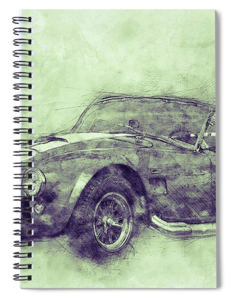 Ac Cobra - Shelby Cobra 3 - 1962s - Automotive Art - Car Posters Spiral Notebook