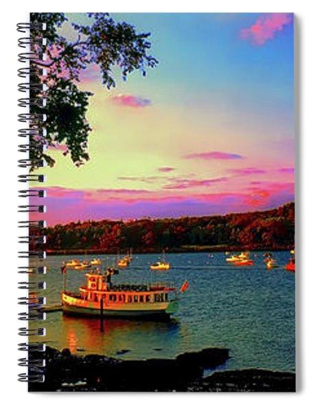 Acadia Bar Harbor Sunset Cruises.tif Spiral Notebook