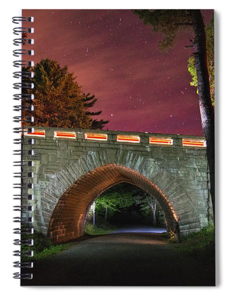 Acadia Carriage Bridge Under The Stars Spiral Notebook