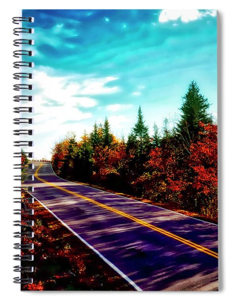 Acadia Natl Park Cadillac Mountian Road Fall Maine  Spiral Notebook