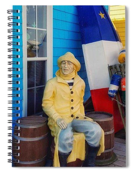 Acadian Fisherman, Prince Edward Island, Canada Spiral Notebook