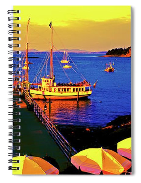 Acaida  Bar Harbor  Pier Spiral Notebook