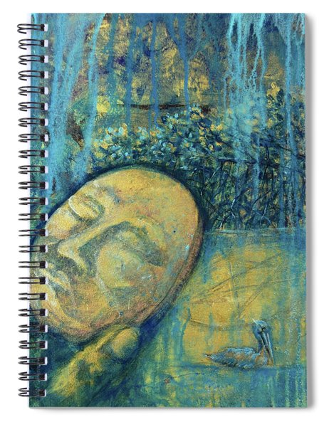 Ace Of Coins Spiral Notebook