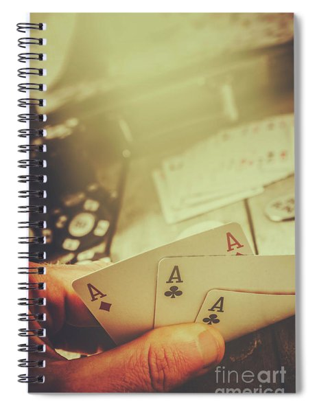 Aces Up The Sleeve Spiral Notebook