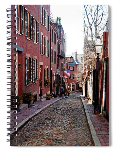 Acorn Street Beacon Hill Spiral Notebook