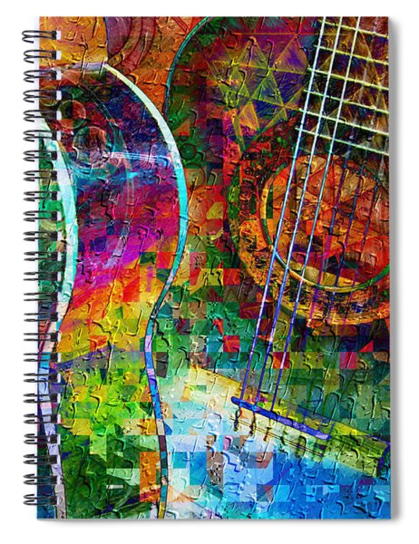 Acoustic Cubed Spiral Notebook