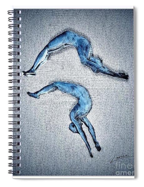 Acrobatic Gesture Spiral Notebook