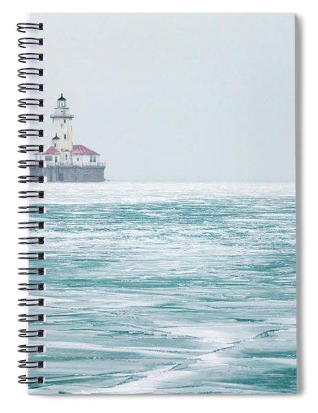 Across The Frozen Lake Spiral Notebook