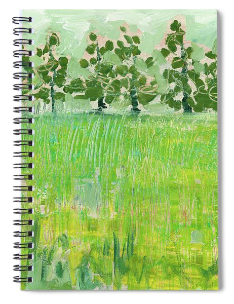 Across The Meadow Spiral Notebook by Jennifer Lommers