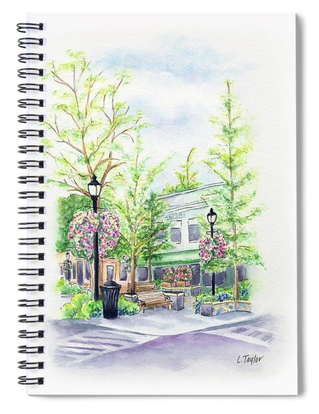 Across The Plaza Spiral Notebook