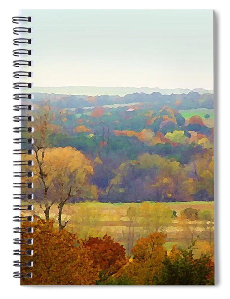 Across The River In Autumn Spiral Notebook