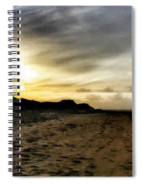 Across The Sands Spiral Notebook