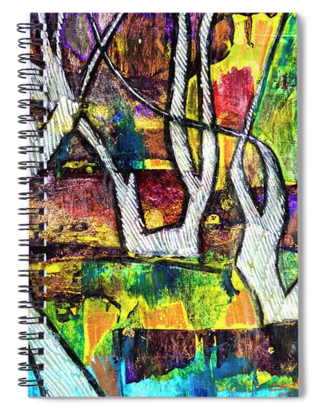 Acrylic Forest  Spiral Notebook