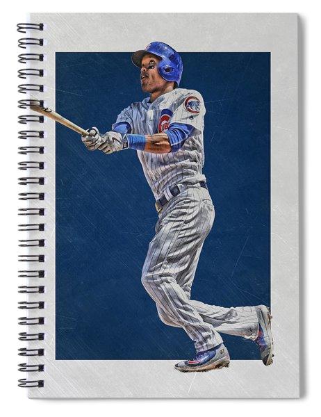 Addison Russell Chicago Cubs Art Spiral Notebook
