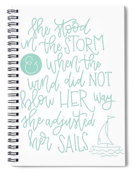 Adjusted Her Sails Spiral Notebook