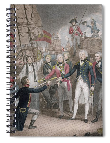 Admiral Nelson's Boarding The Two Spanish Ships, 14th February 1797 Spiral Notebook